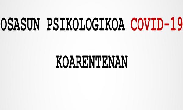 CONSEJOS SOBRE LA SALUD PSICOLÓGICA ANTE LA COVID-19